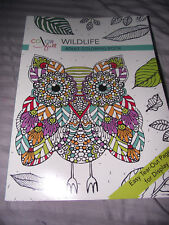 BRAND NEW Color Full Wildlife Adult Coloring Book Easy Tear Out Pages Paperback