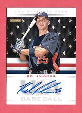 2013 Kel Johnson Panini USA Baseball Rookie Auto /499