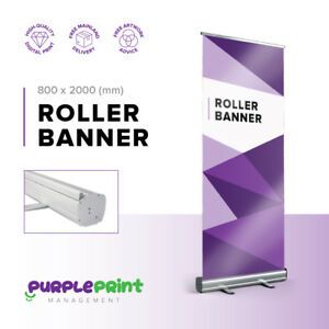 800mm Roller Banner - Pop Up - Roll Up - Banner - Exhibition Display Stand