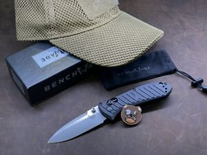 Benchmade Mini Presidio Knife, Tactical Hat And Patch
