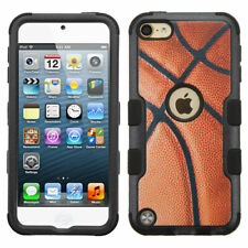For iPod Touch 5th 6th 7th Gen - HYBRID HIGH IMPACT ARMOR CASE COVER BASKETBALL