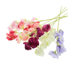 Artificial Fake Flower Floral Individual Sweet Pea Stem - VARIOUS COLOURS