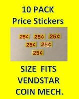 6 Vendstar Machine VINYL price stickers Labels bulk vending