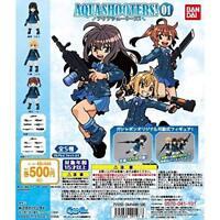 BANDAI AQUA SHOOTERS! 01 Gashapon 5 set mini figure capsule toys Japan