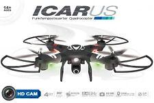 ICARUS Quadrocopter RC Drohne von Maximum inkl. HD Kamera & Controller & Extras!