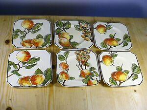 Royal Doulton D4626 SIX Peach Sandwich Plates