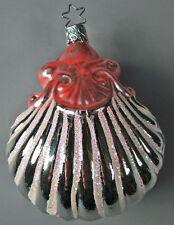 "Glass 443 Inge Glas Ornament Large Sea Shell 4"" Old World Christmas Vintage"