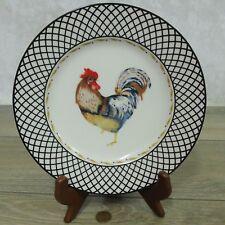 "Vera Bradley ROOSTER PLATE Andrea by Sadek Chicken Bird 8"" Snack Dessert Salads"