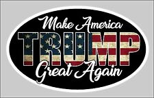 TRUMP MAKE AMERICA GREAT AGAIN MAGA STICKER AMERICAN FLAG DECAL WINDOW BUMPER