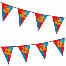 6m Knights and Dragons Medieval Bunting Banner Birthday Party Flags Partyware