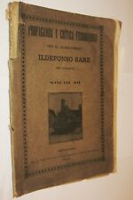 1913 PROPAGANDA Y CRITICA FERROVIARIA - GUARDAFRENO ILDEFONSO SANZ