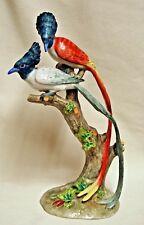 Vintage Art Deco UGO ZACCAGNINI Italian Art Pottery MAJOLICA Birds Figurine