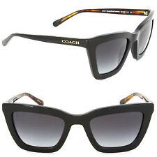 Coach HC8203 544211 Square Sunglasses Black/ Black Tortoise/Grey Gradient Lens