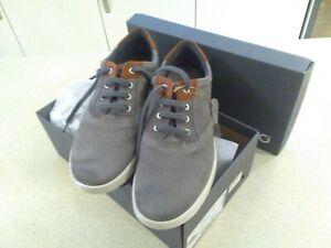 ECCO COLLIN 2.0 Grey UK10.5-11 Nubuck Leather Casual Shoes Sneakers BNWB