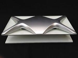 Vintage Mid Century Witte STAFF OYSTER 60s Op Art Ceiling/Wall Lamp Era Poulsen
