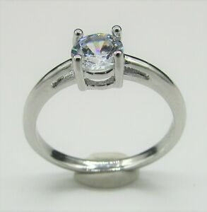 Cubic Zirconia Ring Silver S925  ***FREE POST***