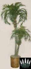 8' Artificial Phoenix 2 Palm Tree in Basket Christmas Light Patio Date Areca Pot
