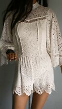 Sassy MINISTRY OF STYLE White COTTON Broderie Anglaise Romper PLAYSUIT Size 6