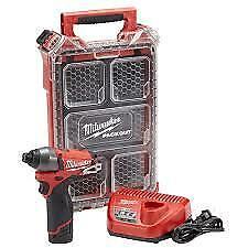 "Milwaukee 2453-21P Cordless M12 Fuel 1/4"" Hex Impact Driver Kit"