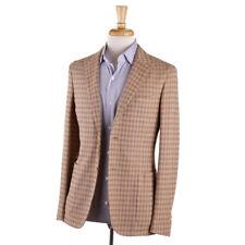 NWT $1245 BOGLIOLI Tan Houndstooth Check Cotton Sport Coat Slim 38 R (fits 36)