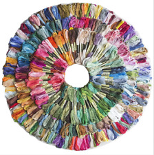 24-50 Multi Colors Cross Stitch Cotton Sewing Skeins Embroidery Thread Floss Kit
