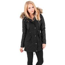 Abrigos y chaquetas de mujer parka de piel color principal negro