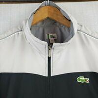 LACOSTE SPORT Large Mens Full Zip Color Block Track Jacket Coat Long Sleeves
