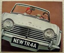 TRIUMPH TR4A Sports Car Sales Brochure June 1966 #338/666/UK