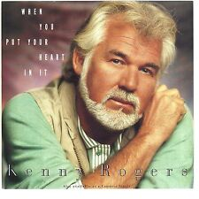 KENNY ROGERS - When You Put Your Heart In It  (picture sleeve only) - NM