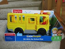 Fisher Price Little People Sit With Me School Bus Kindness Facial Features NIB
