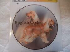1 autocollant - motif chien  COCKER ANGLAIS ROUGE
