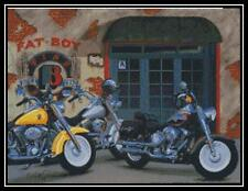 Harley Davidson Cycles - Cross Stitch Chart/Pattern/Design/XStitch