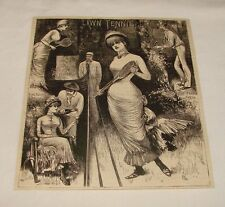 1882 magazine engraving ~ Lawn Tennis