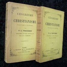 P.-J. PROUDHON EO 1883 Césarisme et Christianisme (2 volumes brochés)