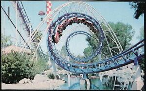 BUENA PARK CA Knott's Berry Farm Corkscrew Roller Coaster Vintage Postcard Old