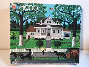 Vintage New Milton Bradley Charles Wysocki's Americana 1000 piece jigsaw puzzle