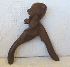 ANTIQUE  CARVED BLACK FOREST MAN CHARACTER  CHRISTMAS NUT CRACKER c.1900s