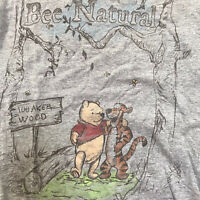 Disney Store Winnie the Pooh Graphic T Shirt Tigger Gray Small Artsy Tee Cotton