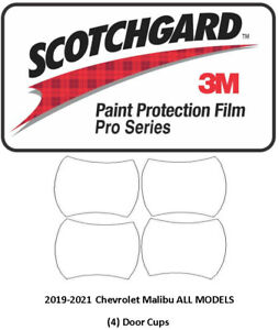 3M Scotchgard PRO Paint Protection Film 2019-2021 Chevrolet Malibu Door Cups