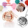 Romantische Erweiterung Foto Medaillon Halskette Engelsflügel Anhänger Geschenk