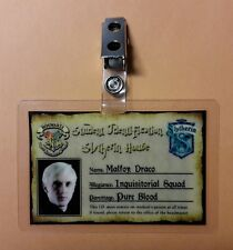 Harry Potter ID Badge - Slytherin House Malfoy Draco cosplay prop costume styleB