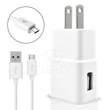 Samsung Galaxy J7 -2016 USB 3.1 amp Home Adapter+3 FT Micro Data Cable White