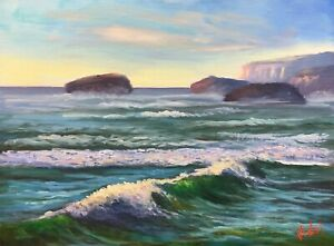Original landscape oil painting near Port Campbell Vic Chris Vidal