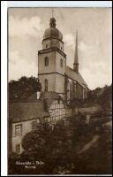 GÖSSNITZ Gößnitz Thüringen um 1925 AK Partie a.d. Kirche Trinks Postkarte gel.