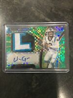2019 Select Football - Will Grier - Rookie Patch Auto Emerald Prizm jer#2/5!$$