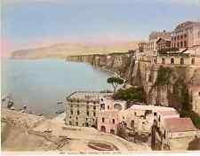 Italia, Sorrento Hôtel Vittoria e marins piccola  Vintage albumen print,