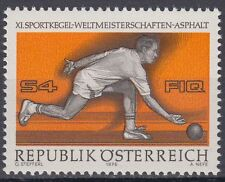 Österreich Austria 1976 ** Mi.1513 Sport Kegeln Sports Bowling