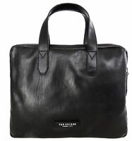 "Cartella Ventiquattrore THE BRIDGE briefcase pelle borsa tracolla porta Pc 14"" a"