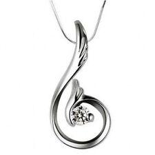 Halsketten und Anhänger aus Sterlingsilber mit Diamant