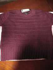 PULL TOP HAUT 30 % LAINE CAROLL T 44 (42) VIOLET PRUNE MANCHES COURTES NEUF